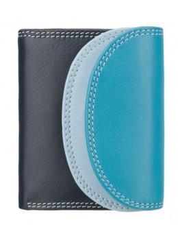 Голубой мультикоровый женский кошелёк Visconti RB126 BLUE M Zanzibar