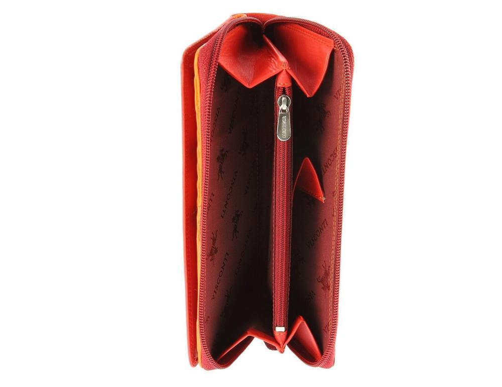 Женский кошелек Visconti RB55 RED M красный - Фото № 5