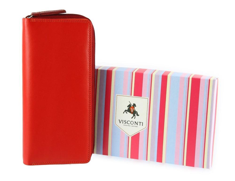 Женский кошелек Visconti RB55 RED M красный - Фото № 9