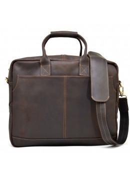 Большая коричневая сумка под ноутбук на 17 дюймов TARWA  RC-1019-3md
