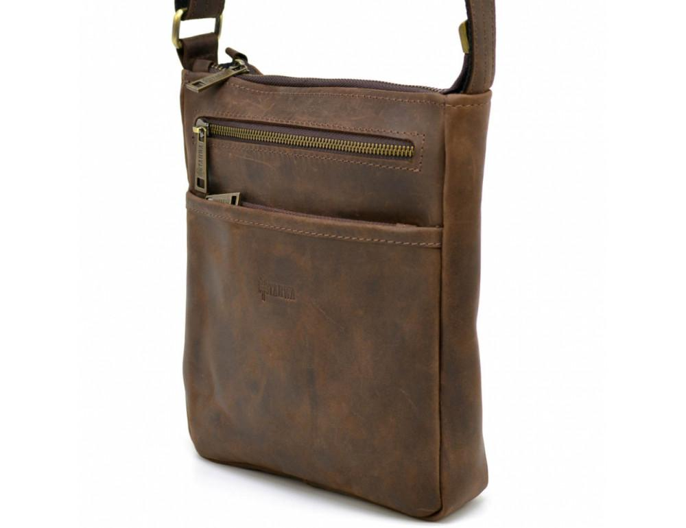Коричневая мужская сумка из винтажной кожи TARWA RC-1300-3md