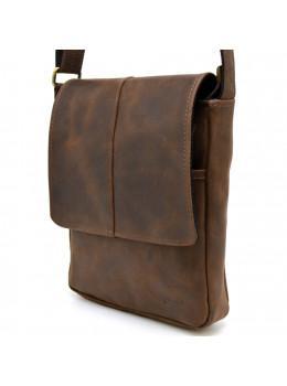 Коричневая кожаная сумка-мессенджер TARWA rc-1301-3md