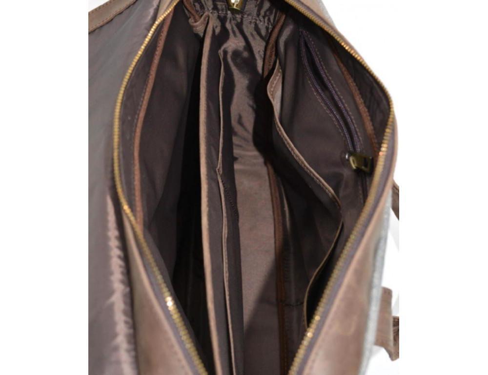 Стильная мужская кожаная сумка TARWA RC-1812-4lx коричневая с серым - Фото № 2