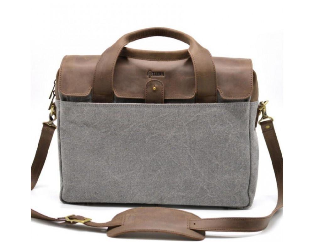 Стильная мужская кожаная сумка TARWA RC-1812-4lx коричневая с серым - Фото № 1