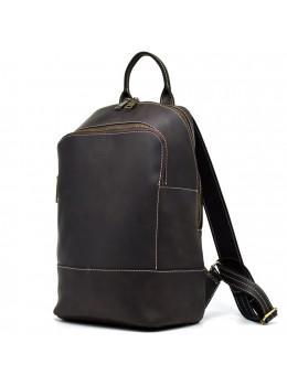 Коричневий жіночий рюкзак з кінської шкіри Crazy hourse TARWA RC-2008-3md