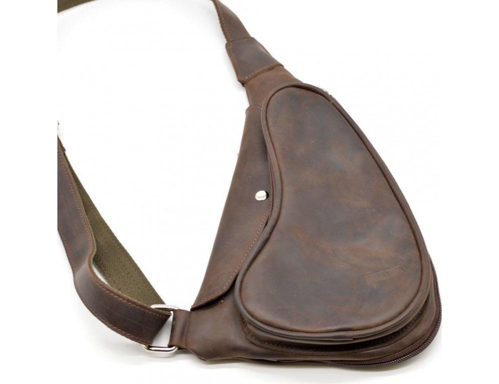 Коричневая кожаная сумка-рюкзак Tarwa RC-3026-3md - Фото № 2