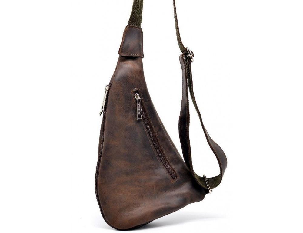 Коричневая кожаная сумка-рюкзак Tarwa RC-3026-3md - Фото № 3