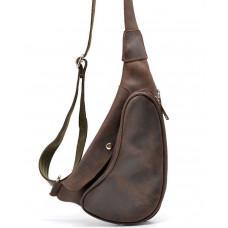 Коричневая кожаная сумка-рюкзак Tarwa RC-3026-3md