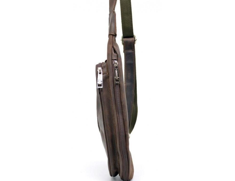 Коричневая кожаная сумка-рюкзак Tarwa RC-3026-3md - Фото № 4