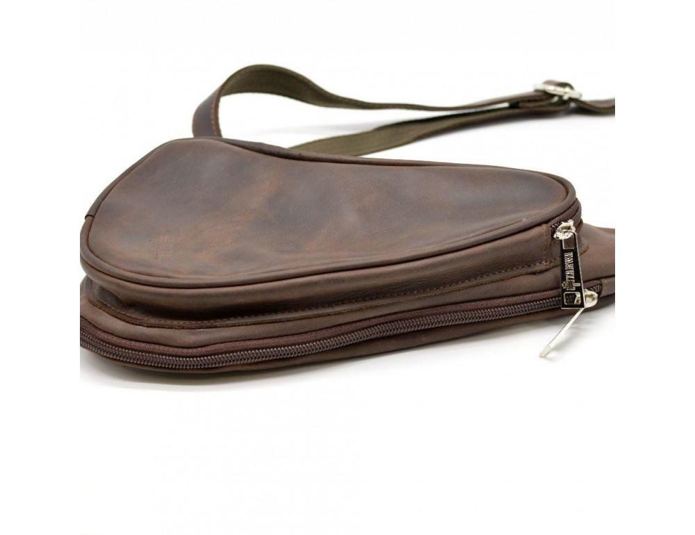 Коричневая кожаная сумка-рюкзак Tarwa RC-3026-3md - Фото № 5