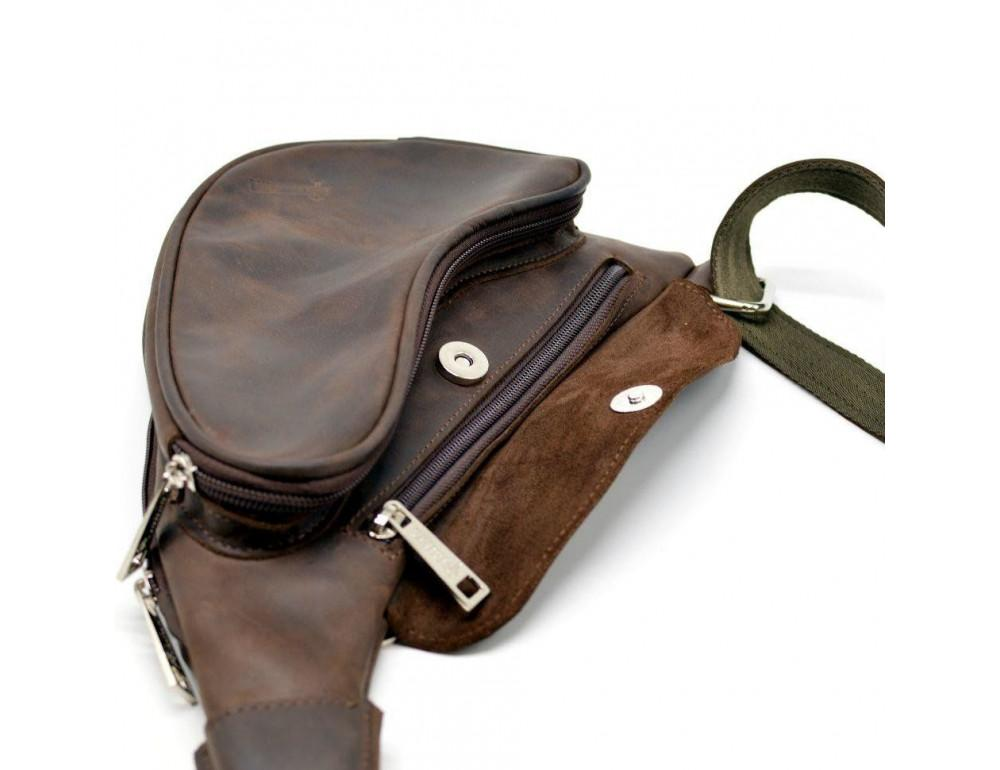 Коричневая кожаная сумка-рюкзак Tarwa RC-3026-3md - Фото № 6