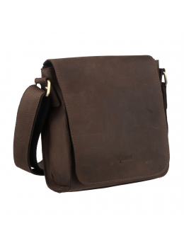 Коричневая кожаная сумка через плечо TARWA RC-30271-3md