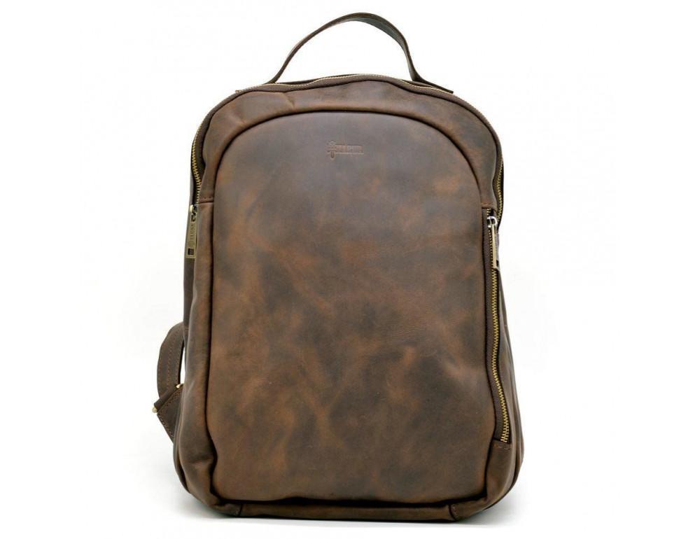 Коричневый городской рюкзак из лошадиной кожи TARWA RC-3072-3md - Фото № 2