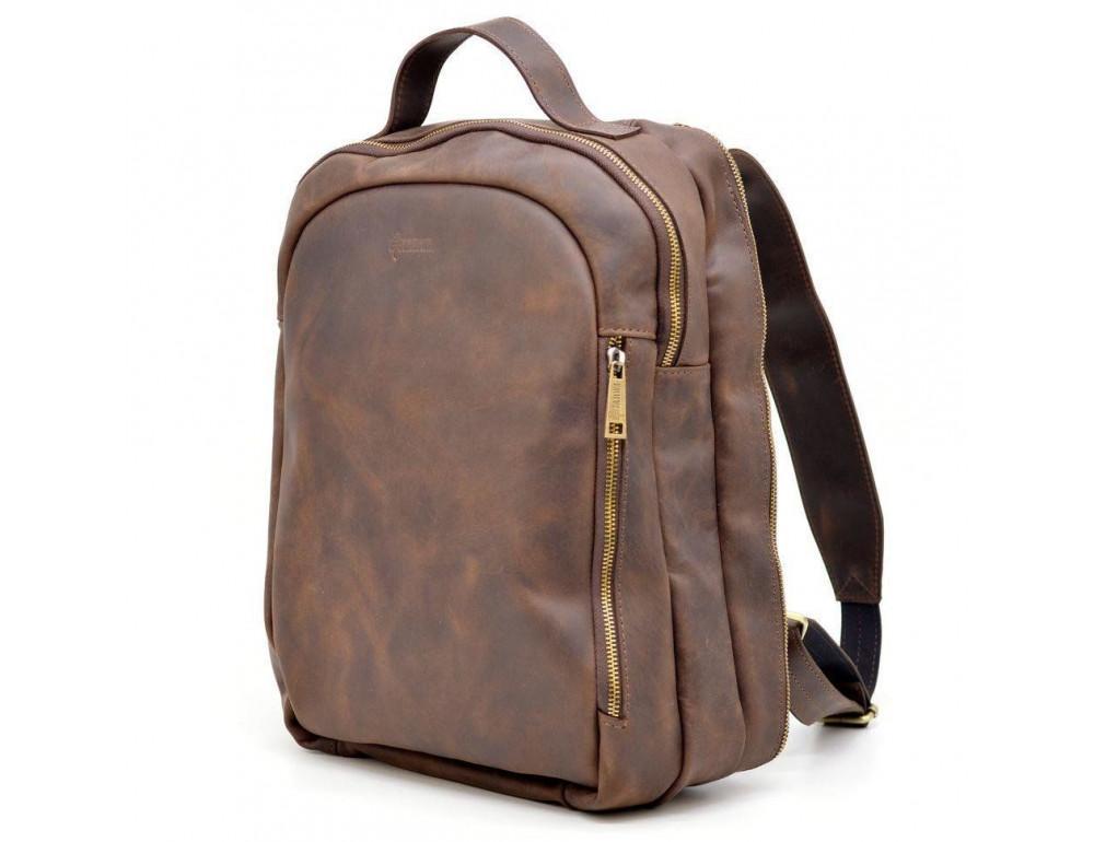 Коричневый городской рюкзак из лошадиной кожи TARWA RC-3072-3md - Фото № 1
