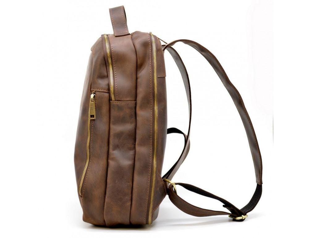 Коричневый городской рюкзак из лошадиной кожи TARWA RC-3072-3md - Фото № 3
