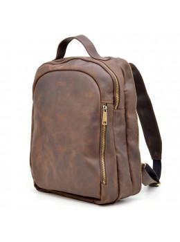 Коричневый городской рюкзак из лошадиной кожи TARWA RC-3072-3md