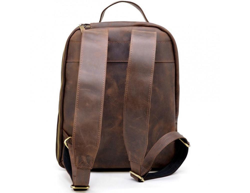 Коричневый городской рюкзак из лошадиной кожи TARWA RC-3072-3md - Фото № 4