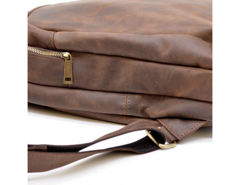 Коричневый городской рюкзак из лошадиной кожи TARWA RC-3072-3md - Фото № 5