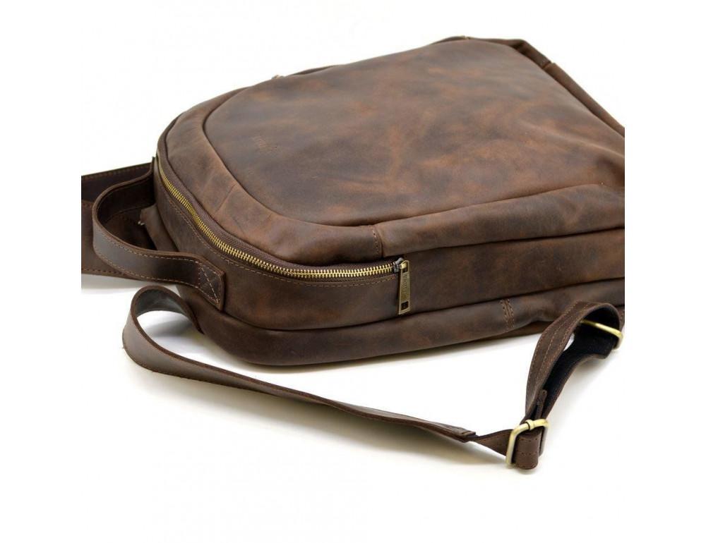 Коричневый городской рюкзак из лошадиной кожи TARWA RC-3072-3md - Фото № 7