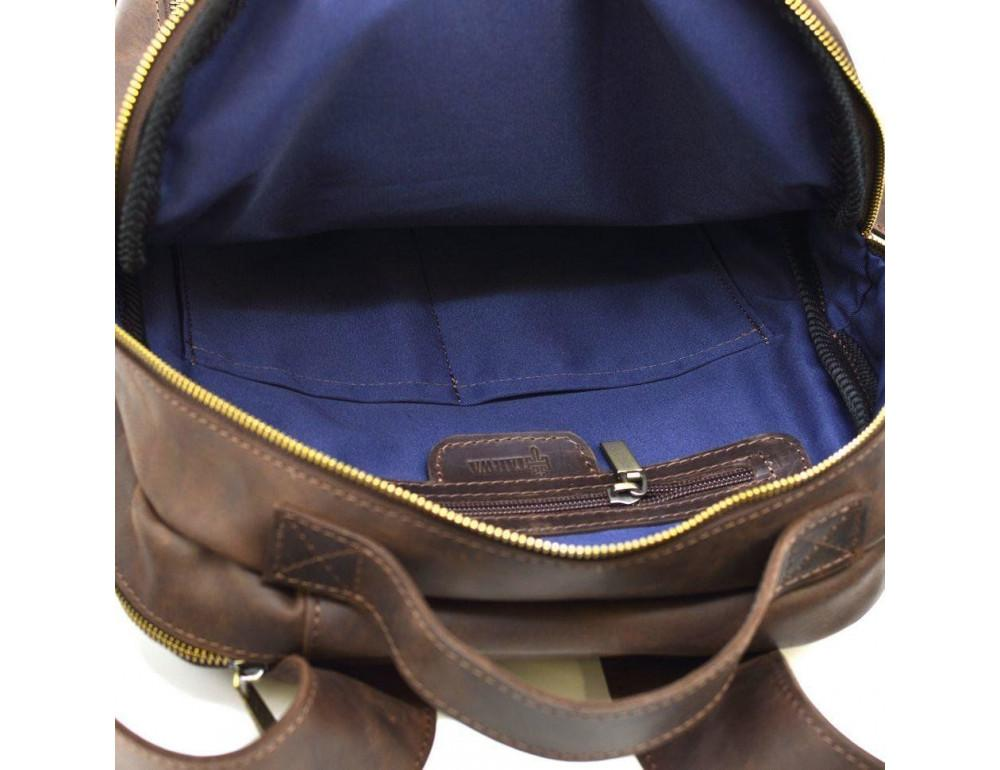 Коричневый городской рюкзак из лошадиной кожи TARWA RC-3072-3md - Фото № 8