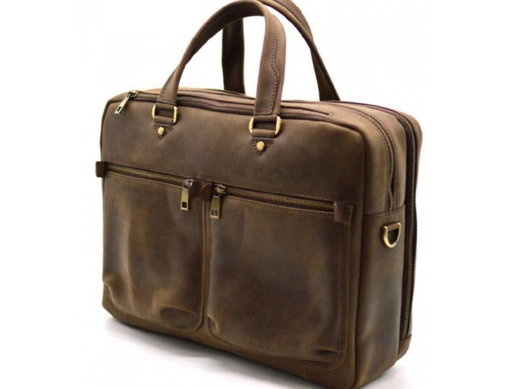 Стильный коричневый портфель TARWA RC-4664-4lx коричневый - Фото № 6