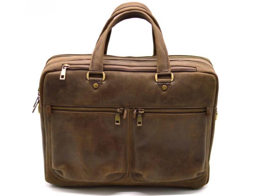 Стильный коричневый портфель TARWA RC-4664-4lx коричневый - Фото № 1