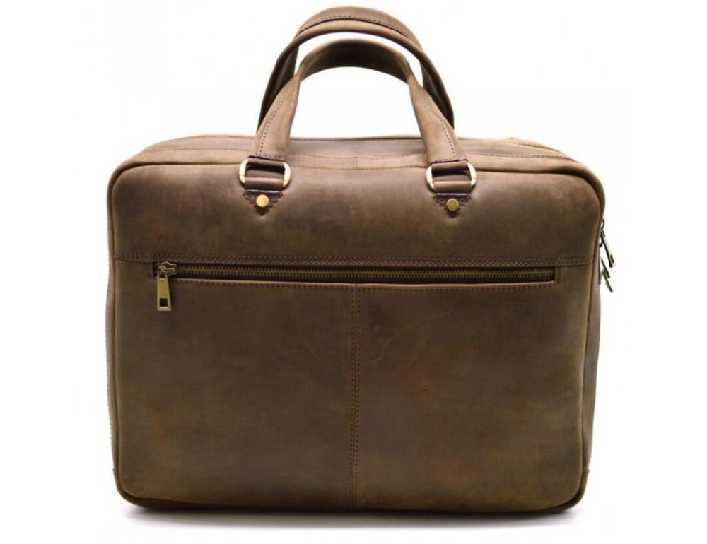 Стильный коричневый портфель TARWA RC-4664-4lx коричневый - Фото № 3