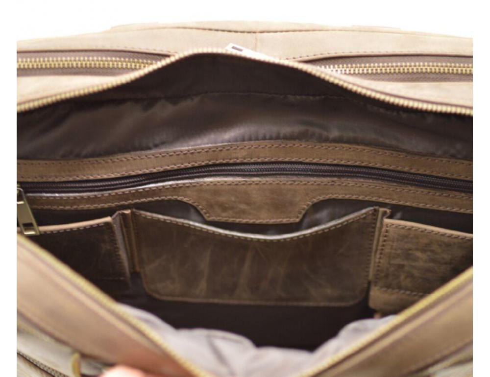 Стильный коричневый портфель TARWA RC-4664-4lx коричневый - Фото № 4