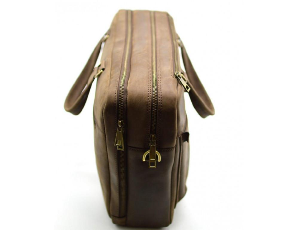 Стильный коричневый портфель TARWA RC-4664-4lx коричневый - Фото № 5