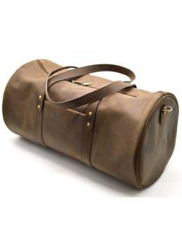 Коричнева шкіряна дорожня сумка TARWA RC-5564-4lx