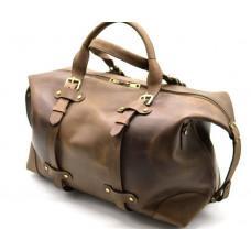 Коричневая кожаная дорожная сумка TARWA RC-5764-4lx