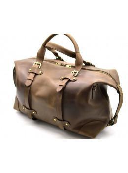 Коричнева шкіряна дорожня сумка TARWA RC-5764-4lx