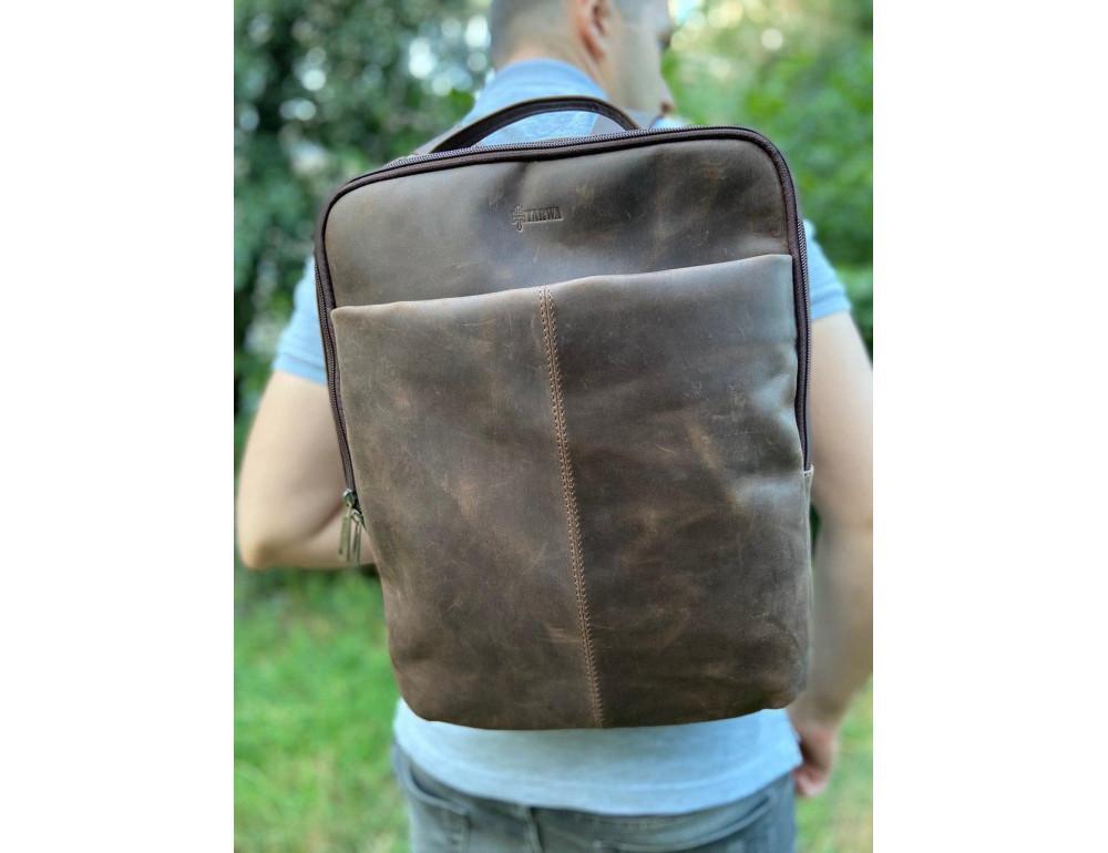 Коричневый мужской рюкзак с двумя отделениями Tarwa RC-7280-3md - Фото № 2