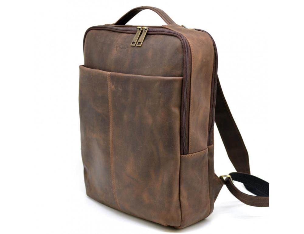 Коричневый мужской рюкзак с двумя отделениями Tarwa RC-7280-3md - Фото № 1