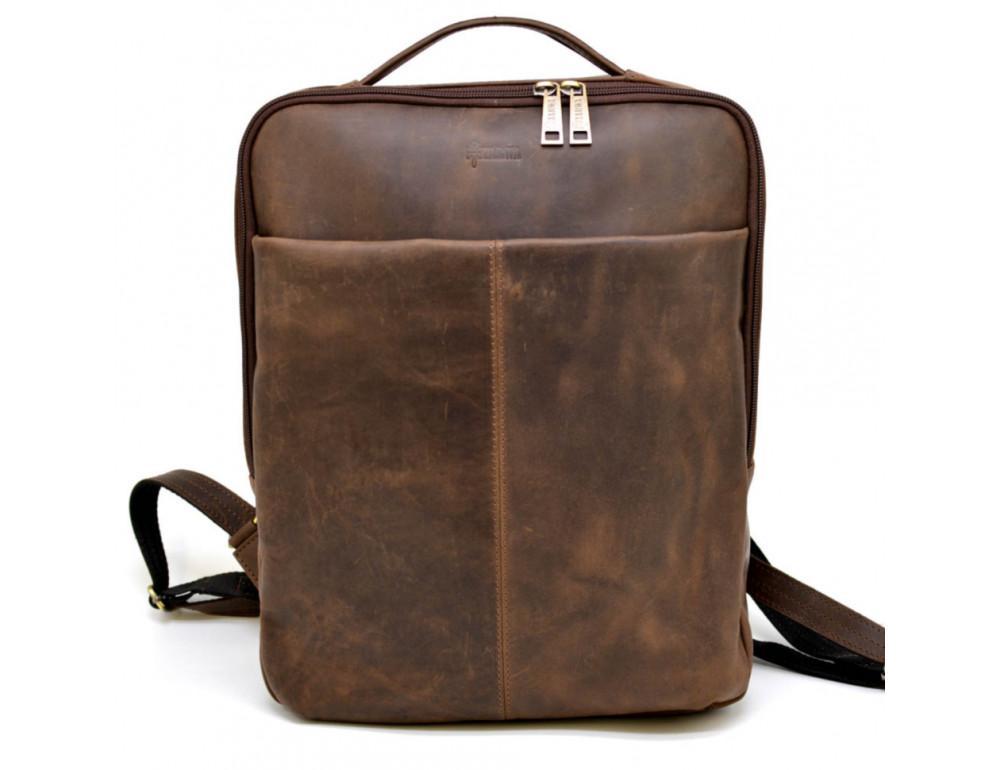 Коричневый мужской рюкзак с двумя отделениями Tarwa RC-7280-3md - Фото № 3