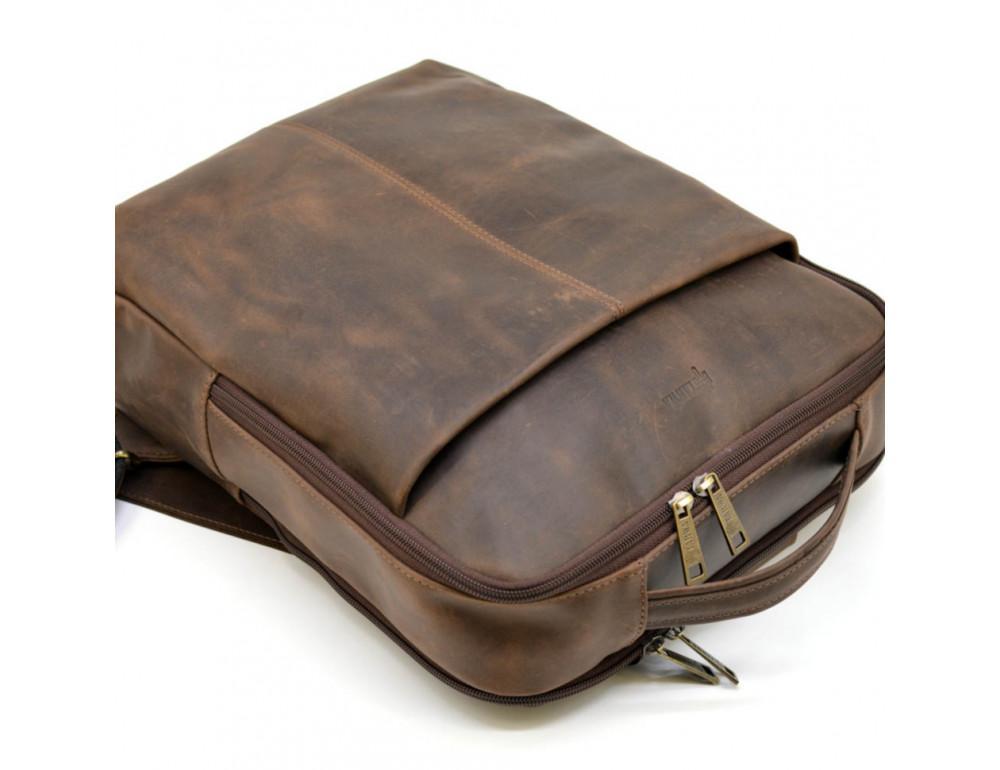 Коричневый мужской рюкзак с двумя отделениями Tarwa RC-7280-3md - Фото № 5
