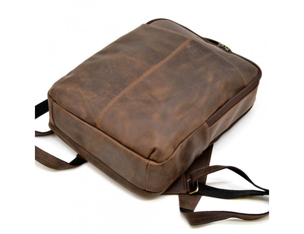 Коричневый мужской рюкзак с двумя отделениями Tarwa RC-7280-3md - Фото № 6