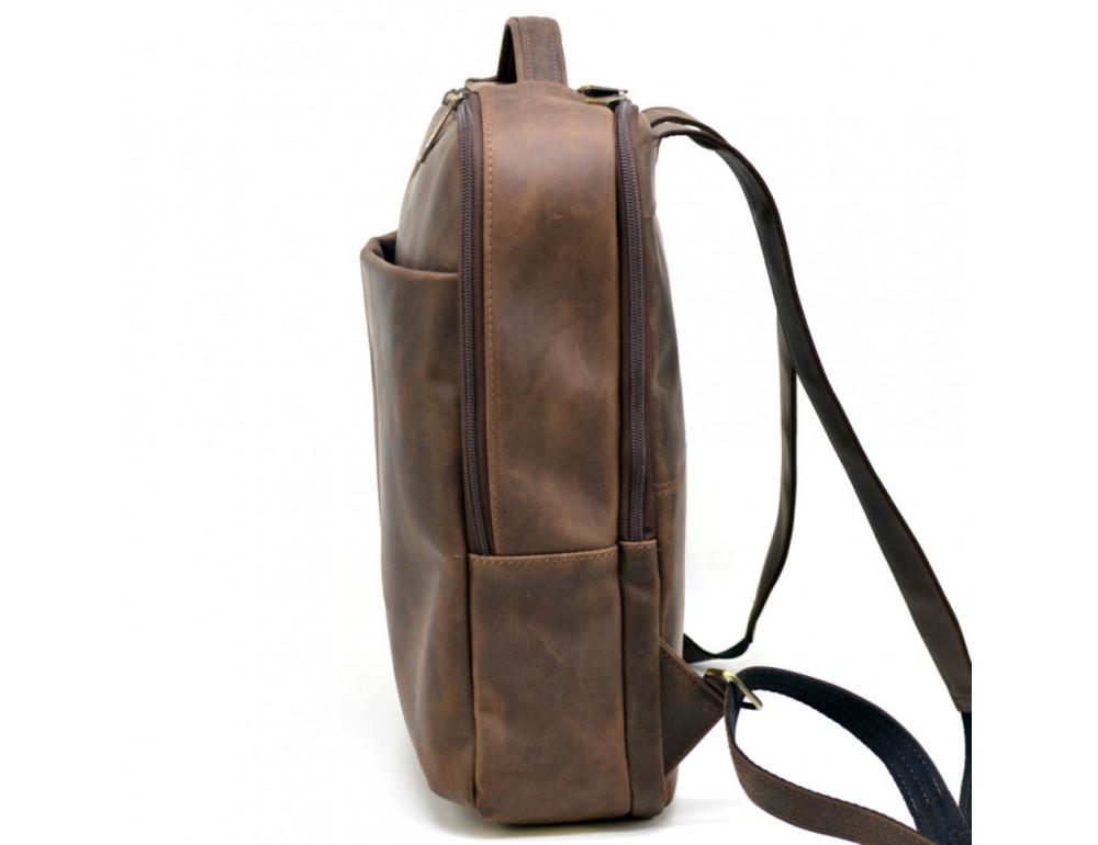 Коричневый мужской рюкзак с двумя отделениями Tarwa RC-7280-3md - Фото № 7