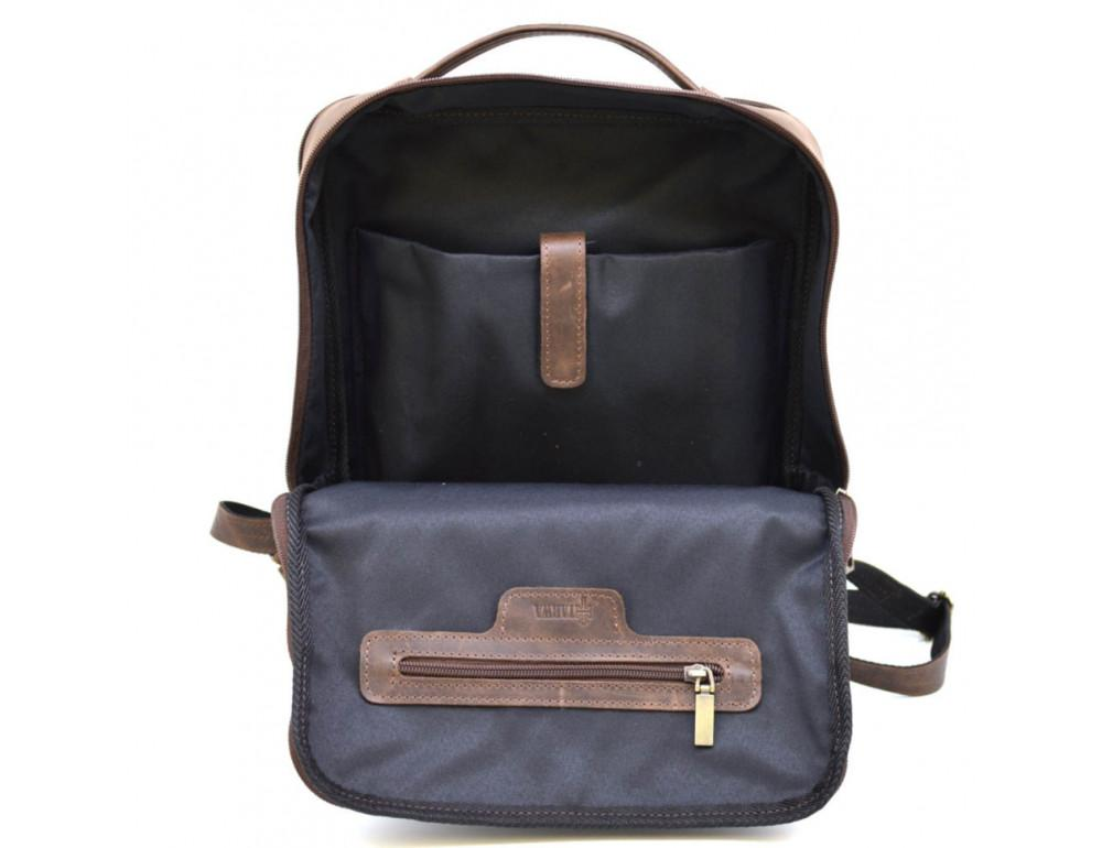Коричневый мужской рюкзак с двумя отделениями Tarwa RC-7280-3md - Фото № 8