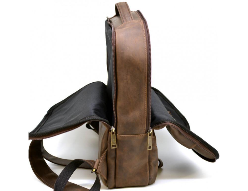Коричневый мужской рюкзак с двумя отделениями Tarwa RC-7280-3md - Фото № 9
