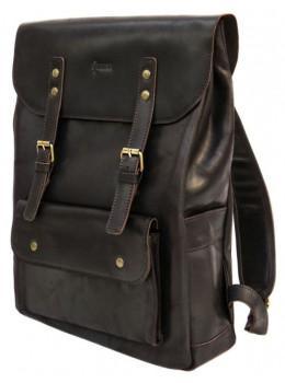 Коричневый мужской рюкзак из лошадиной кожи TARWA RC-9001-4lx