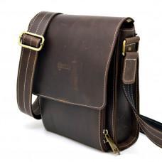 Коричневая кожаная сумка мессенджер TARWA rcw-3027-4lx