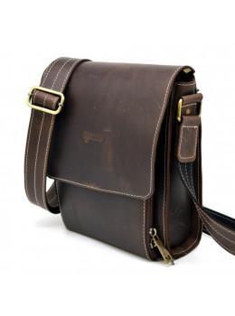 Коричневая кожаная сумка мессенджер TARWA RCw-3027-3md