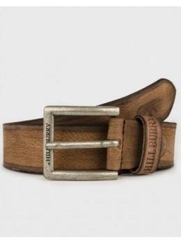 Коричневый ремень мужской кожаный Hill burry HB2076/40RB