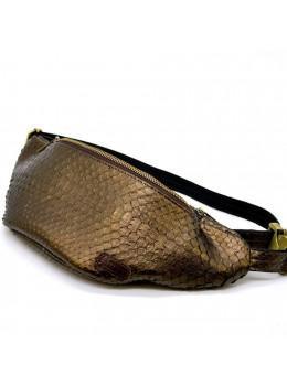 Золотая сумка на пояс из кожи питона TARWA rep-3036-4lx