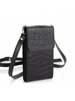 Чорна шкіряна сумочка чохол для телефону TARWA REP1-2122-4lx