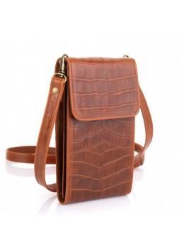 Руда шкіряна сумка чохол маленька TARWA REP2-2122-4lx