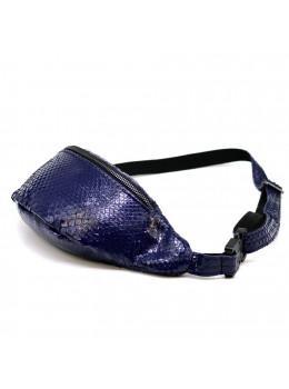 Фиолетовая сумка на пояс из кожи питона Tarwa REP3-3035-3md