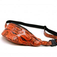 Красная на поясная сумка из кожи питона Tarwa REP4-3035-3md