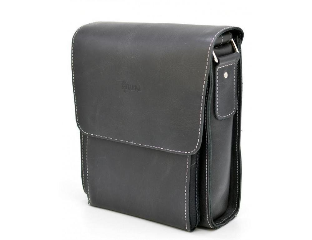 Чёрная мужская сумка-мессенджер TARWA RG-3027-3md - Фото № 2